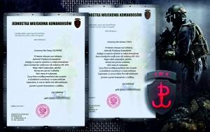 Jednostka Wojskowa Komandosów - podziękowania dla T. Kudyby i D. Żyły z Krav Maga Poland