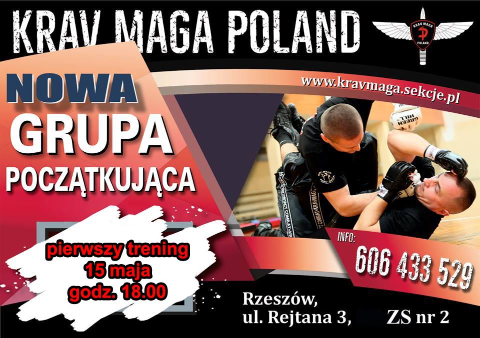 Zapisy do nowej grupy Krav Maga Poland w Rzeszowie, start 15 maja godz 18